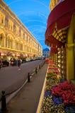 胶-购物中心在红场,莫斯科,俄罗斯 库存照片