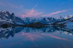 紫胶Blanc, Graian阿尔卑斯,法国 图库摄影