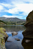 紫胶des Bouillouses和Lacs du Carlit 免版税库存照片
