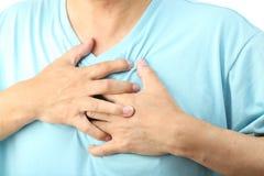 胸口痛 库存图片