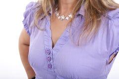 胸口s妇女 免版税库存照片
