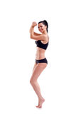胸罩亭亭玉立的体育运动妇女年轻人 免版税库存图片