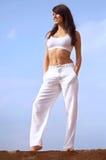 胸罩适合的体育运动妇女年轻人 免版税库存图片