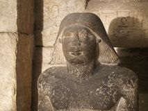 胸象一个抄写员的石头雕象在埃及博物馆在开罗 免版税库存照片