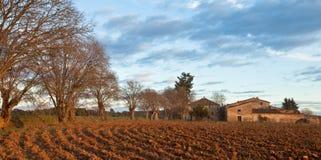 能农夫有历史的房子plantada s 免版税库存图片