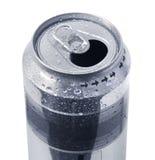 能冷饮被开张的锡 库存图片