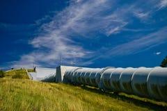 水能厂在Zydowo波兰 免版税库存照片