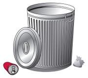 8能在垃圾向量白色的eps例证 库存照片
