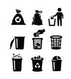 8能在垃圾向量白色的eps例证 免版税库存图片