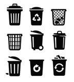 8能在垃圾向量白色的eps例证 图库摄影
