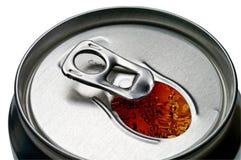 能开放特写镜头的可乐 免版税库存图片
