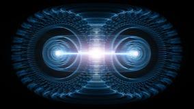 能承受的高能量粒子流经托卡马克或油炸圈饼形设备 库存例证