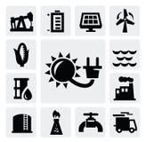 能源业图标 免版税库存照片