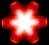 能源分数维次幂红色星形 免版税库存图片