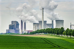 能源化石工厂次幂 库存照片
