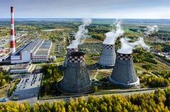 能源厂全景 秋明州 俄国 免版税图库摄影