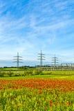 能源厂和配电器岗位 免版税库存图片
