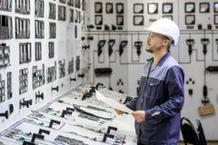 能源厂工作者 库存照片