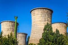 能源厂熔炉 库存照片