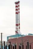 能源厂的烟囱 库存照片