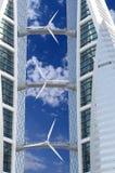 能源可延续的来源涡轮风 免版税库存图片