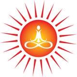能源图标瑜伽 图库摄影