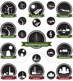 能源图标装箱可延续的来源 免版税库存照片