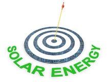 能源太阳目标 库存图片