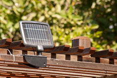 能源太阳面板的节省额 免版税库存图片