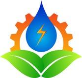 能源徽标 向量例证
