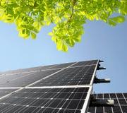能源查出的对象镶板太阳 库存图片