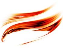 能源流的行动红色 向量例证