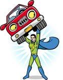 能源焕发超级英雄 图库摄影