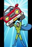 能源焕发超级英雄 免版税库存照片