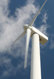 能源环保电力涡轮风 免版税库存照片