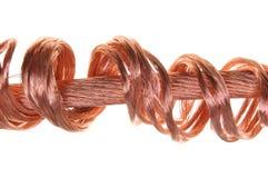 能源电力工业的铜丝概念 免版税库存照片