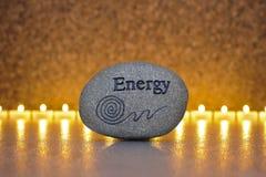 能源石头  免版税库存图片