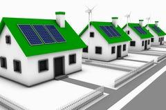能源绿色邻里 免版税库存图片