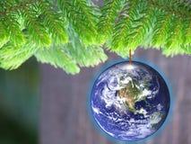 能源节约eco友好圣诞节 免版税库存图片