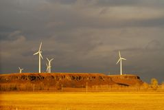 能源设备风 库存照片