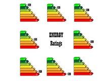 能源评级 库存照片