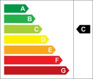 能源评级 库存例证