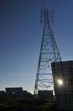 能源镶板次幂可延续的太阳塔 库存图片