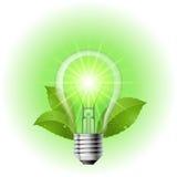 能源闪亮指示节省额 库存例证
