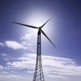 能源eolic意大利涡轮 免版税库存照片