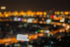 能看到高速公路的曼谷都市风景 免版税库存图片