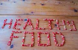 能胆固醇接近的更低的宏指令一石榴种子射击superfoods 免版税库存图片