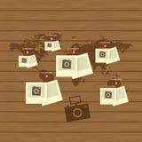 能适应和敏感网络设计象集合 免版税库存图片