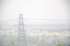 能量和大气污染 库存图片
