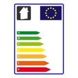 能量在白色背景隔绝的efficience标签 向量Illustartion 免版税图库摄影
